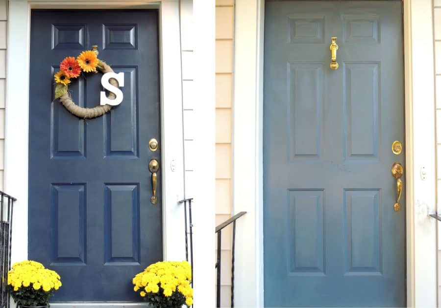 Painted front door - Naval by Sherwin Williams