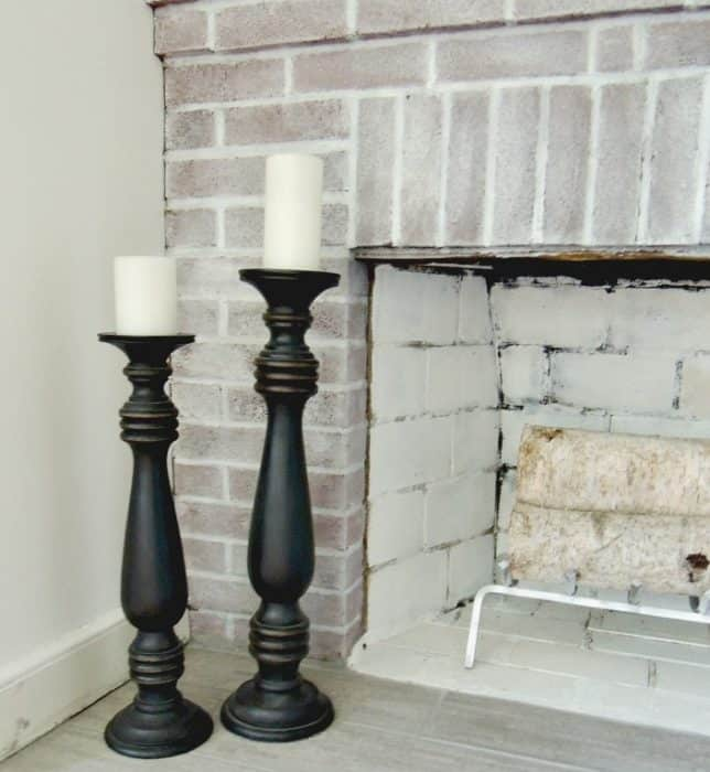 fireplace candleholders