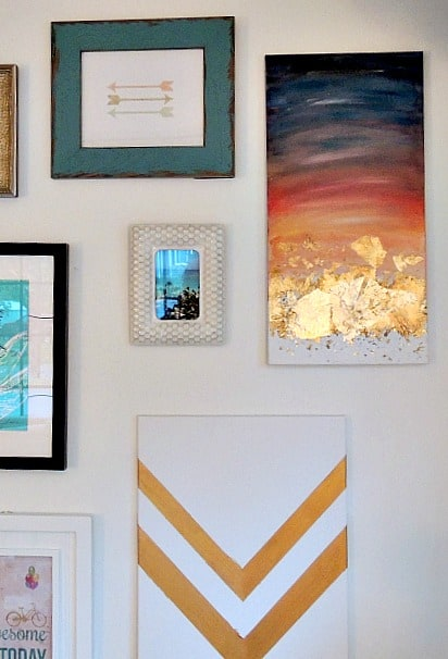watercolor art on gallery wall