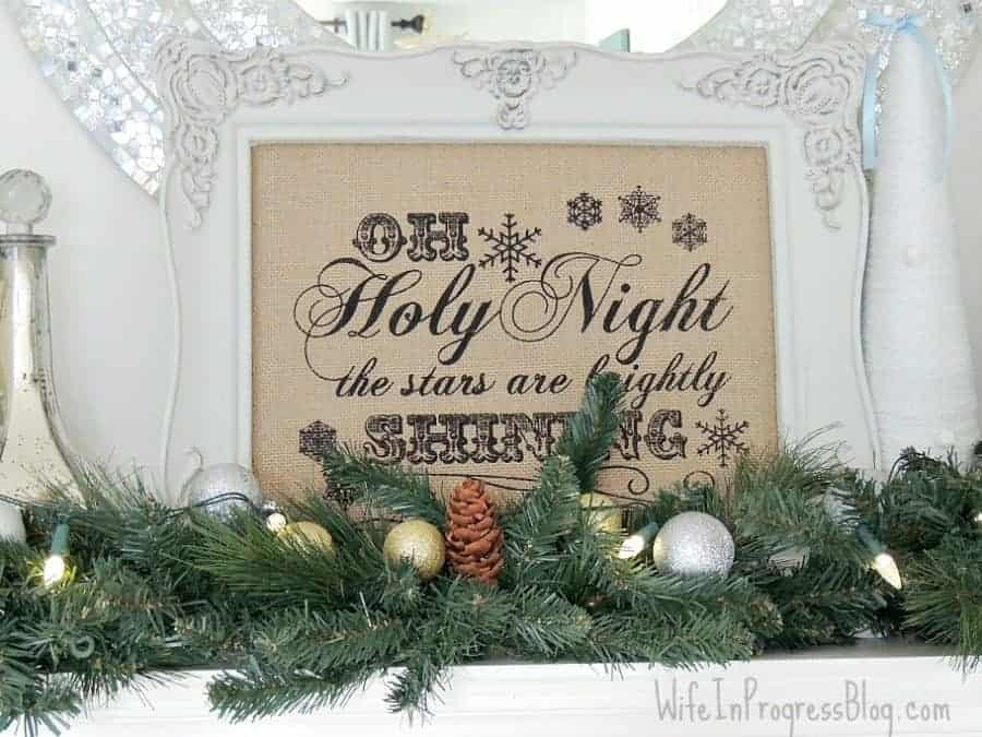 2014 christmas mantel
