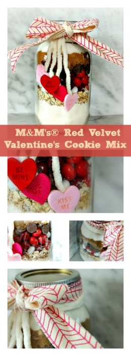 M&M's® Red Velvet Cookie Mix in a Jar| wifeinprogressblog.com #shop #cbias
