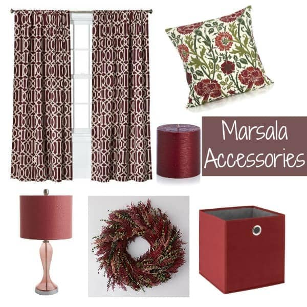 Pantone Marsala accessories for the home
