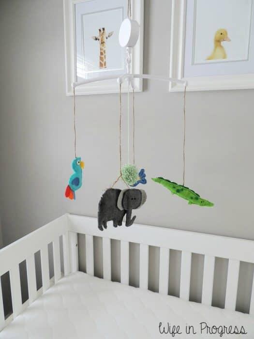 Baby Boy Nursery Crib Mobile