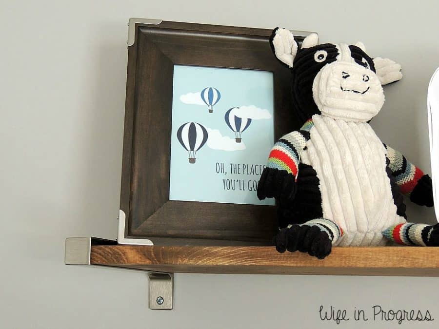 Baby Boy Nursery Rustic Shelves