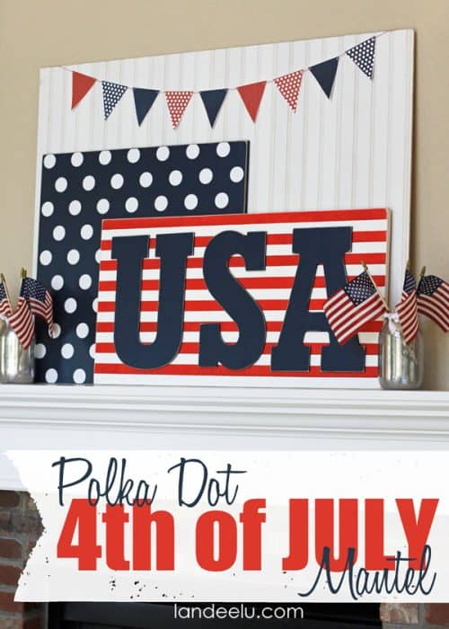 Polka-Dot-4th-of-July-Mantel-Idea-from-Landeelu