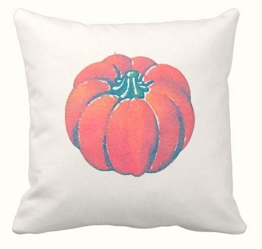 pottery barn knockoff painted pumpkin pillow