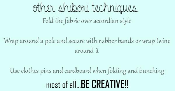 Shibori Tutorial